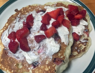 Strawberry Cheesecake Pancakes Edited